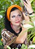 Mulher com as tranças africanas Fotos de Stock