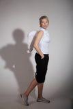 Mulher com asas do anjo Fotografia de Stock