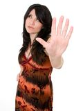 Mulher com atitude Fotografia de Stock Royalty Free