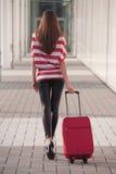 Mulher com bagagem Fotos de Stock Royalty Free