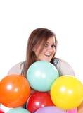 Mulher com balões. Foto de Stock