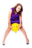 Mulher com ballons Fotografia de Stock Royalty Free