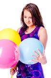 Mulher com ballons Foto de Stock Royalty Free