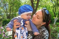 Mulher com bebê Imagens de Stock