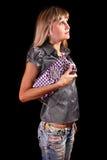 Mulher com bolsa Imagens de Stock Royalty Free
