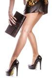 Mulher com bolsa Foto de Stock Royalty Free
