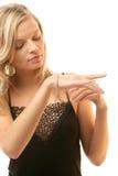 Mulher com bracelete Imagem de Stock