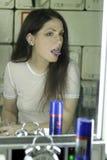 Mulher com brincos Foto de Stock Royalty Free