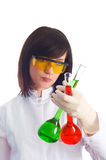 Mulher com câmaras de ar químicas Foto de Stock Royalty Free