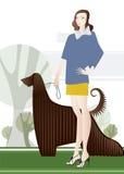 Mulher com cão Foto de Stock Royalty Free