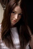 Mulher com cabelo bonito Imagem de Stock Royalty Free