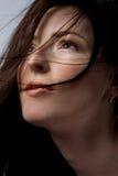 Mulher com cabelo bonito fotos de stock