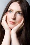 Mulher com cabelo bonito imagem de stock