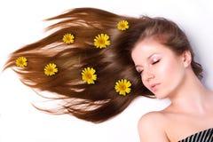 Mulher com cabelo longo Foto de Stock