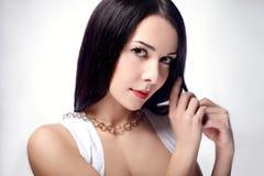 Mulher com cabelo longo Fotografia de Stock