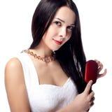 Mulher com cabelo longo Fotos de Stock Royalty Free