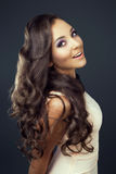 Mulher com cabelo longo Imagens de Stock