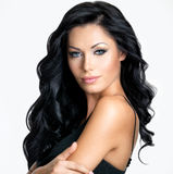 Mulher com cabelo longo da beleza Foto de Stock Royalty Free