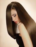 Mulher com cabelo longo. Imagem da alta qualidade. fotografia de stock royalty free