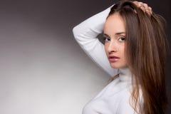 Mulher com cabelo magnífico do vôo Imagem de Stock