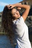 Mulher com cabelo molhado Imagem de Stock Royalty Free