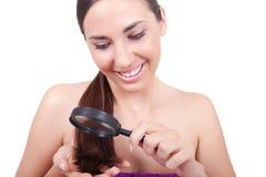 Mulher com cabelo saudável Imagens de Stock Royalty Free