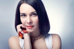 Mulher com cabelo triguenho Fotos de Stock
