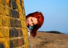 Mulher com cabelo vermelho Foto de Stock Royalty Free