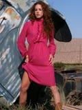 Mulher com cabelo vermelho bonito Fotos de Stock Royalty Free