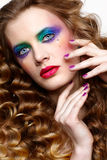 Mulher com cabelos dourados longos Foto de Stock Royalty Free
