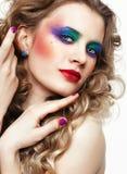 Mulher com cabelos dourados longos Fotos de Stock Royalty Free