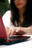 Mulher com caderno Imagem de Stock