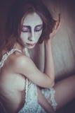 Mulher com cara criativa, luz suave Imagem de Stock Royalty Free