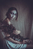 Mulher com cara criativa, luz suave Imagem de Stock