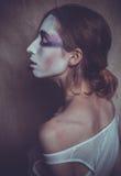 Mulher com cara criativa, luz suave Foto de Stock Royalty Free