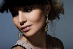 Mulher com cara da arte Fotos de Stock Royalty Free