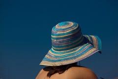Mulher com chapéu Imagens de Stock Royalty Free
