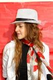 mulher com chapéu Fotografia de Stock