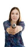 Mulher com chave de fenda Fotografia de Stock