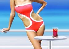 Mulher com cocktail Imagens de Stock