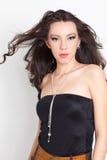 Mulher com colar Fotografia de Stock