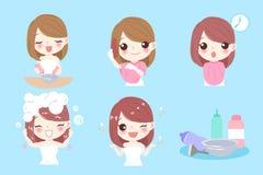 Mulher com coloração de cabelo Fotos de Stock