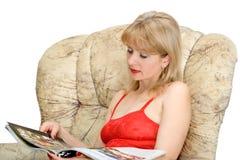 A mulher com compartimento Imagem de Stock Royalty Free
