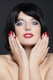 Mulher com composição à moda Fotos de Stock Royalty Free