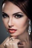Mulher com composição brilhante Imagem de Stock Royalty Free