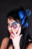 Mulher com composição da borboleta Foto de Stock Royalty Free