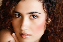 Mulher com composição dourada Imagens de Stock
