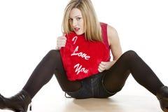 Mulher com coração Foto de Stock Royalty Free