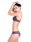 Mulher com corpo perfeito magro bonito Imagens de Stock Royalty Free