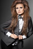 Mulher com curva-laço Imagens de Stock Royalty Free
